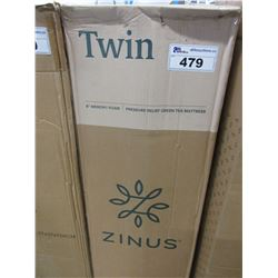 "ZINUS 8"" TWIN MEMORY FOAM MATTRESS"