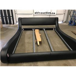 LEATHER KING SIZE BED FRAME (NO ASSEMBLY HARDWARE)
