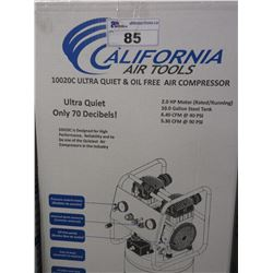NEW CALIFORNIA AIR TOOLS 10020C ULTRA QUIET & OIL FREE AIR COMPRESSOR