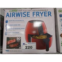 GOWISEUSA ELECTRIC PROGRAMMABLE AIRWISE FRYER
