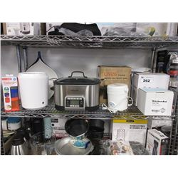 SHELF OF ASSORTED KITCHENWARE