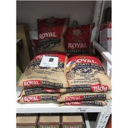 10 BAGS OF ROYAL BASMATI RICE 20 LBS EACH