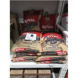 10 BAGS OF ROYAL BASMATI RICE 20 LBS EACH