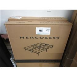 2 NEW HERCULES HEAVY DUTY METAL PLATFORM KING SIZE BED FRAME