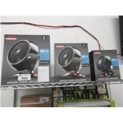 3 VORNADO WHOLE ROOM CIRCULATOR FANS