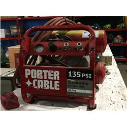 PORTER CABLE 135 PSI AIR COMPRESSOR WITH HOSE LINE