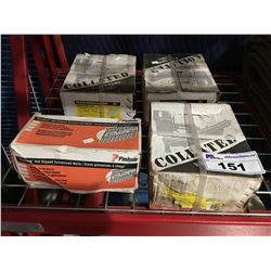 3 BOXES COLLATED FRAMING NAILS & 1 BOX OF PASLODE GALVANIZED NAILS