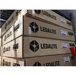 PALLET OF 27 NEW LEDALITE CEILING LIGHT FIXTURES (NO BULBS)
