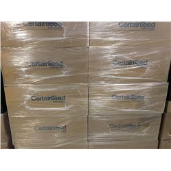 16 BOXES NEW CERTAINTEED MINERAL CEILING SYMPHONY T-BAR CEILING TILE  (56 SQ FEET PER BOX)/896
