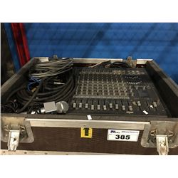 YORKVILLE AP812 800 WATT STEREO MIXER COMES COMPLETE WITH CASE, CORDS, MICROPHONE ECT.