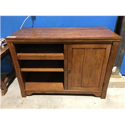 OAK FINISH ENTERTAINMENT CABINET