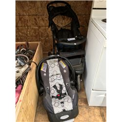 CHILDS STROLLER & BABY CAR SEAT