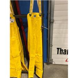 HELLY HANSEN YELLOW RAIN PANTS - SIZE XL