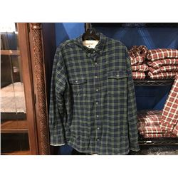 LEE VALLEY IRELAND MENS LINED SHIRT - GREEN TARTAN L