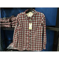 LEE VALLEY IRELAND ESKRA LINED SHIRT - RED/WHITE CHECKER SIZE M
