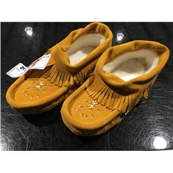 PAIR OF LAURENTIAN CHIEF MOCCASINS