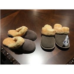 2 PAIRS OF LADIES SLIPPERS
