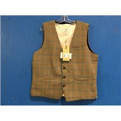 LEE VALLEY IRELAND DURROW TWEAD VEST - HURLY TWEED SIZE XL