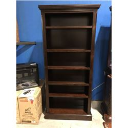 6' TALL MAHOGANY FINISH BOOK SHELF
