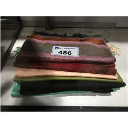 7 ASSORTED WOMENS SCARFS
