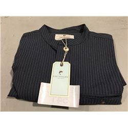 LEE VALLEY IRELAND COMFORT G/F SHIRT - NAVY STRIPES - SIZE L
