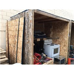 APPROX 8' X 8' X 8' WOODEN STORAGE POD