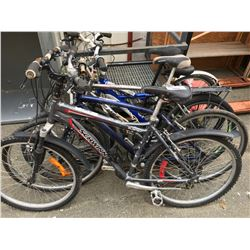 GROUP OF 5 ASSORTED BICYCLES (PARTS & REPAIR MAY BE REQUIRED)