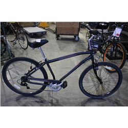 "BLACK HUFFY PARKSIDE 21 SPEED BIKE WITH HI TEN STEEL 27.5"" FRAME"