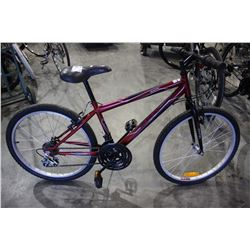 RED HUFFY GRANITE 18 SPEED MOUNTAIN BIKE WITH HI TEN STEEL FRAME