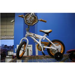 CHILDREN'S STAR WARS FORCE AWAKENS BB8 BIKE WITH TRAINING WHEELS