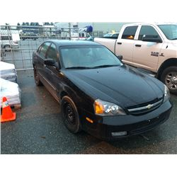 2004 BLACK CHEVROLET EPICA LT 4 DR SEDAN, 145,852 KMS , GAS, AUTOMATIC, FULLY LOADED