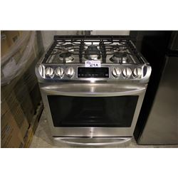 LG STAINLESS STEEL GAS TOP STOVE/OVEN