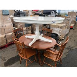 2 DINING TABLES & 4 CHAIRS