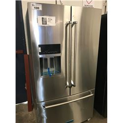 NEW KITCHENAID 26.8 CUBIC FOOT STAINLESS STEEL FRENCH DOOR FRIDGE