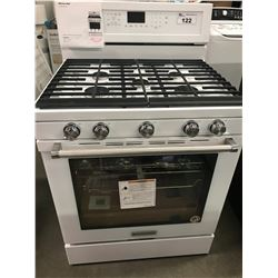 "NEW KITCHENAID 30"" WHITE GAS RANGE WITH CONVECTION"