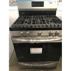 "NEW FRIGIDAIRE GALLERY  STAINLESS & BLACK 30""  GAS RANGE"