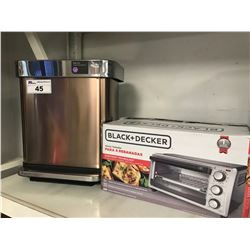 SIMPLE HUMAN STEP CAN & BLACK & DECKER TOASTER OVEN