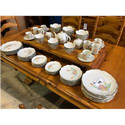 12 PERSON SETTING OF ORCHARD MIST BY OTAGIRI MADE IN JAPAN DINNERWARE