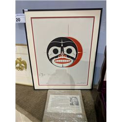 """""""ECLIPSE"""" LIMITED PRINT SIGNED BY RICHARD SHORTY, 1990 - 22 X 18.5 INCH"""