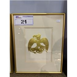 """""""THE EAGLE AND THE FROG"""" PRINT SIGNED BY BILL REID - 13 X 11 INCH"""