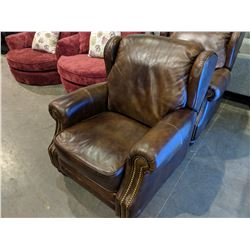 MODERN STUDDED LEATHER RECLINER