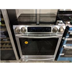 SAMSUNG STAINLESS STEEL CERAMIC TOP SLIDE-IN STOVE