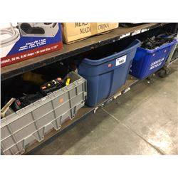 3 BINS OF ASSORTED POWER TOOLS & MORE