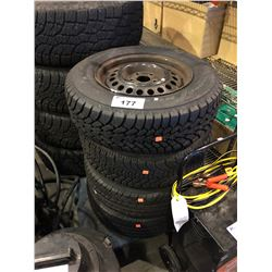 4 ASSORTED 14 INCH TIRES ON RIMS