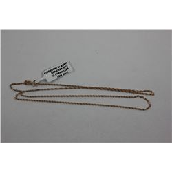9K ROSE GOLD SINGAPORE CHAIN, SIZE 18