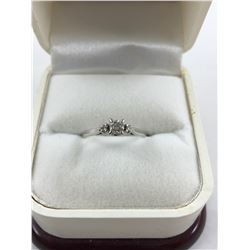 14K WHITE GOLD MODERN DIAMOND ENGAGEMENT RING