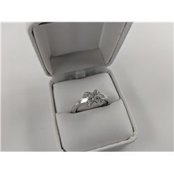 CRISS CROSS ENGAGEMENT RING IN STERLING SILVER