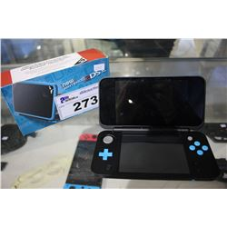 BLUE / BLACK NINTENDO 2DS XL WITH BOX AND POWER CORD
