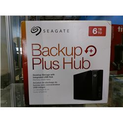 SEAGATE 6TB BACKUP PLUS HUB DESKTOP STORAGE WITH INTEGRATED USB HUB (USE BETWEEN WINDOWS AND MAC)