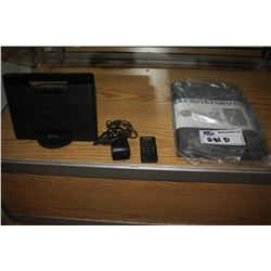 "SONY DOCKING SYSTEM RDP-M7IP WITH CHARGER AND REMOTE AND BRENTHAVEN 11"" PROSTYLE SLEEVE"